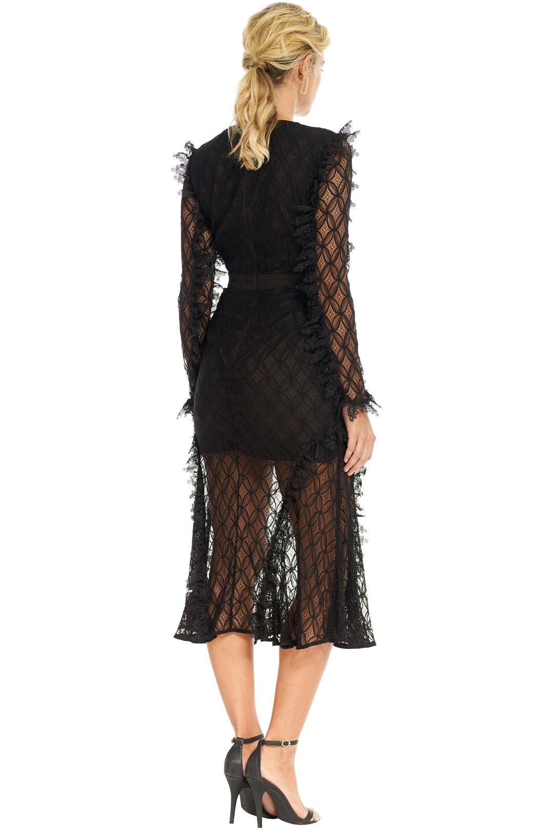 Talulah - Pursue Midi Dress - Black - Back