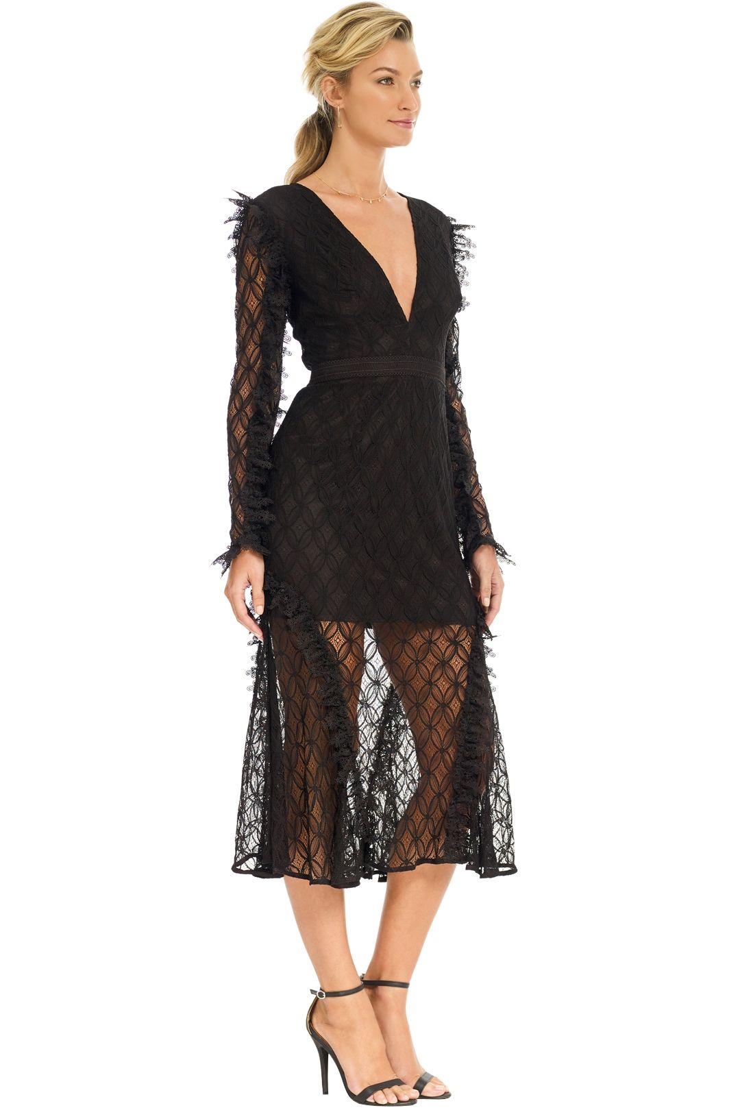 Talulah - Pursue Midi Dress - Black - Side
