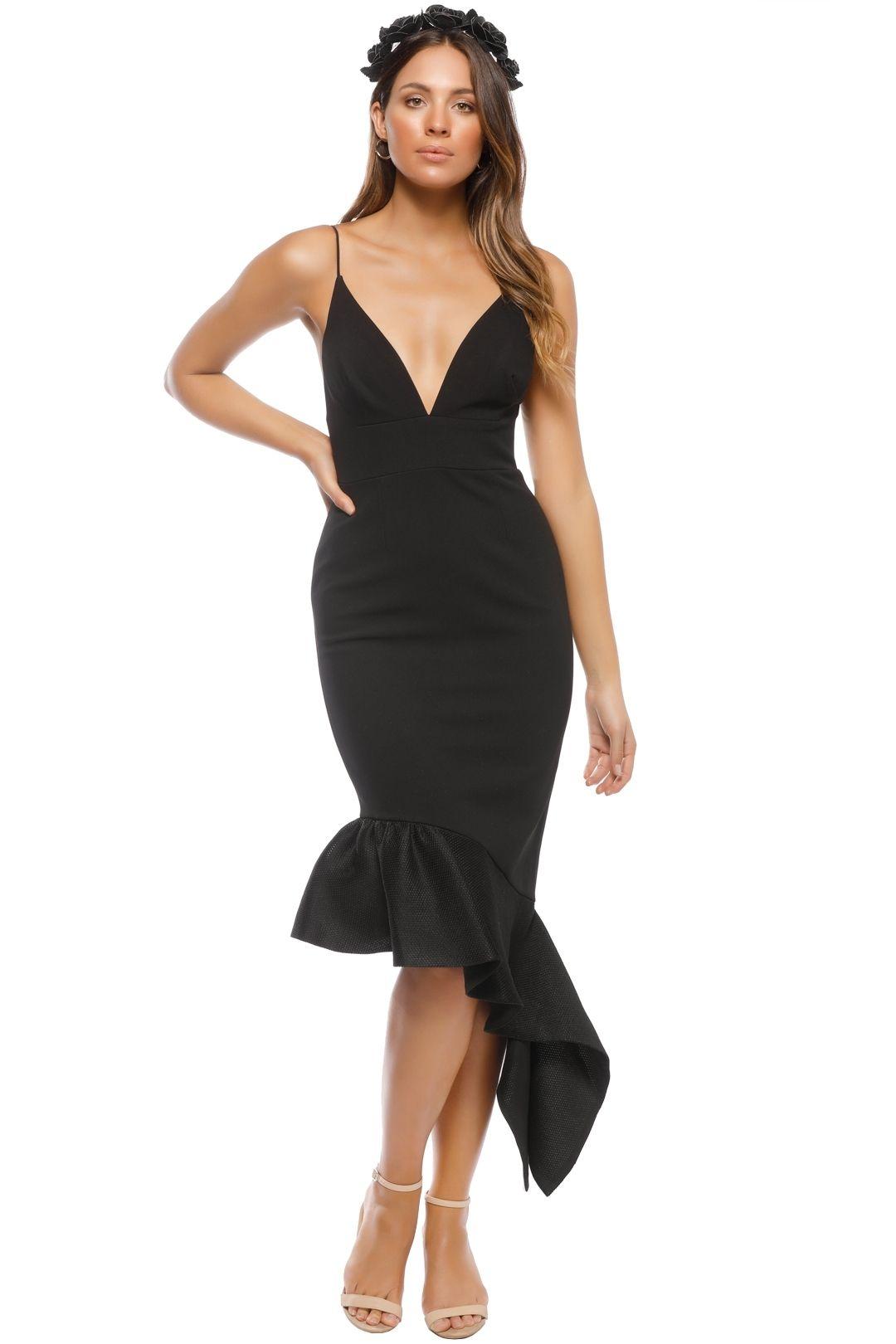 Talulah - Renegade Midi Dress - Black - Front
