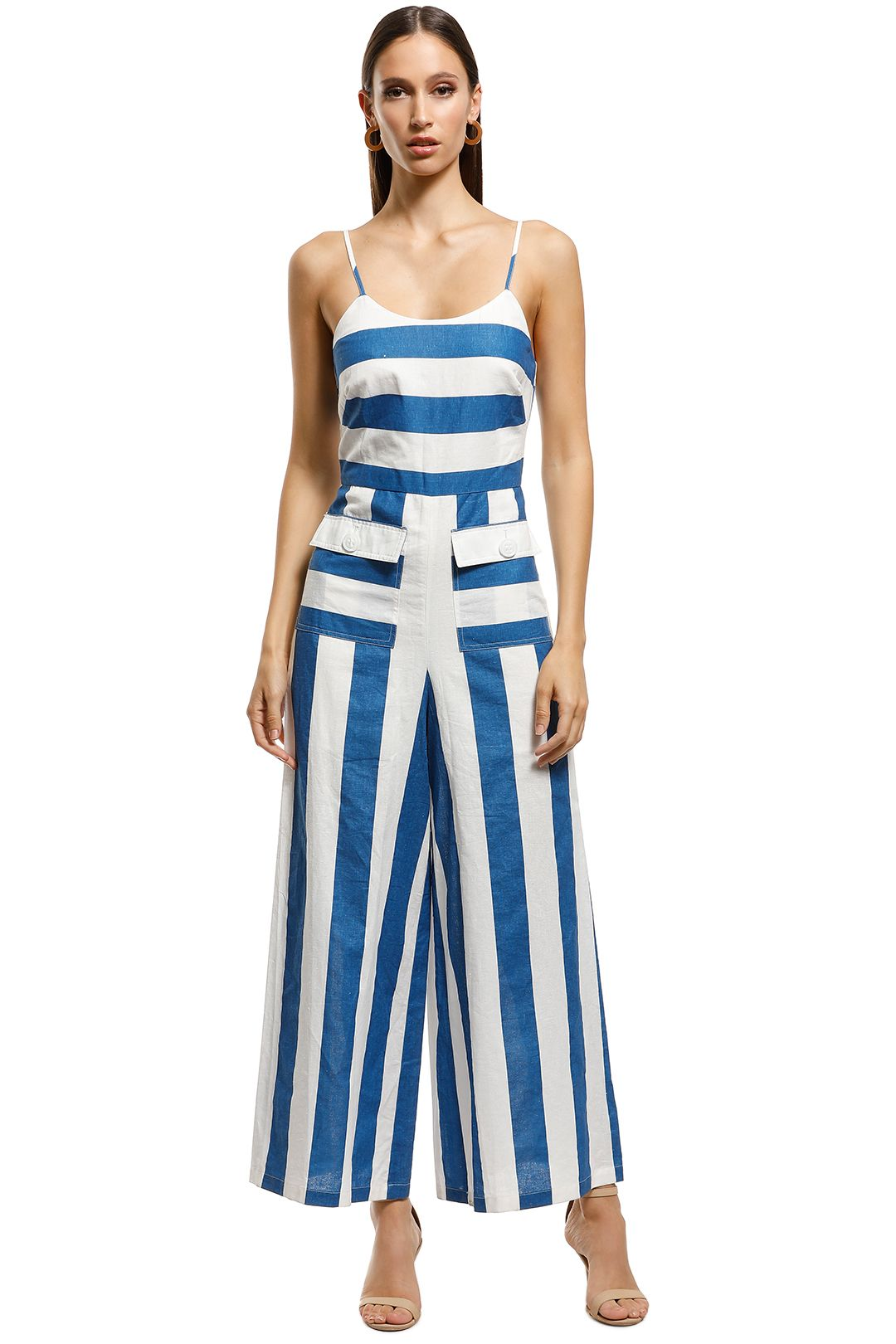 Talulah - Sea Bound Midi Dress - Blue - Front