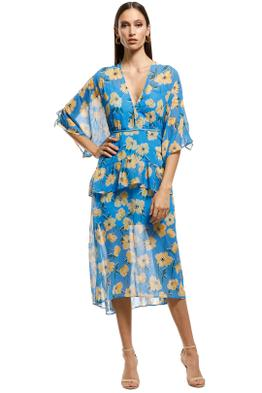 Talulah - Sicily Sway Midi Dress - blue - Front