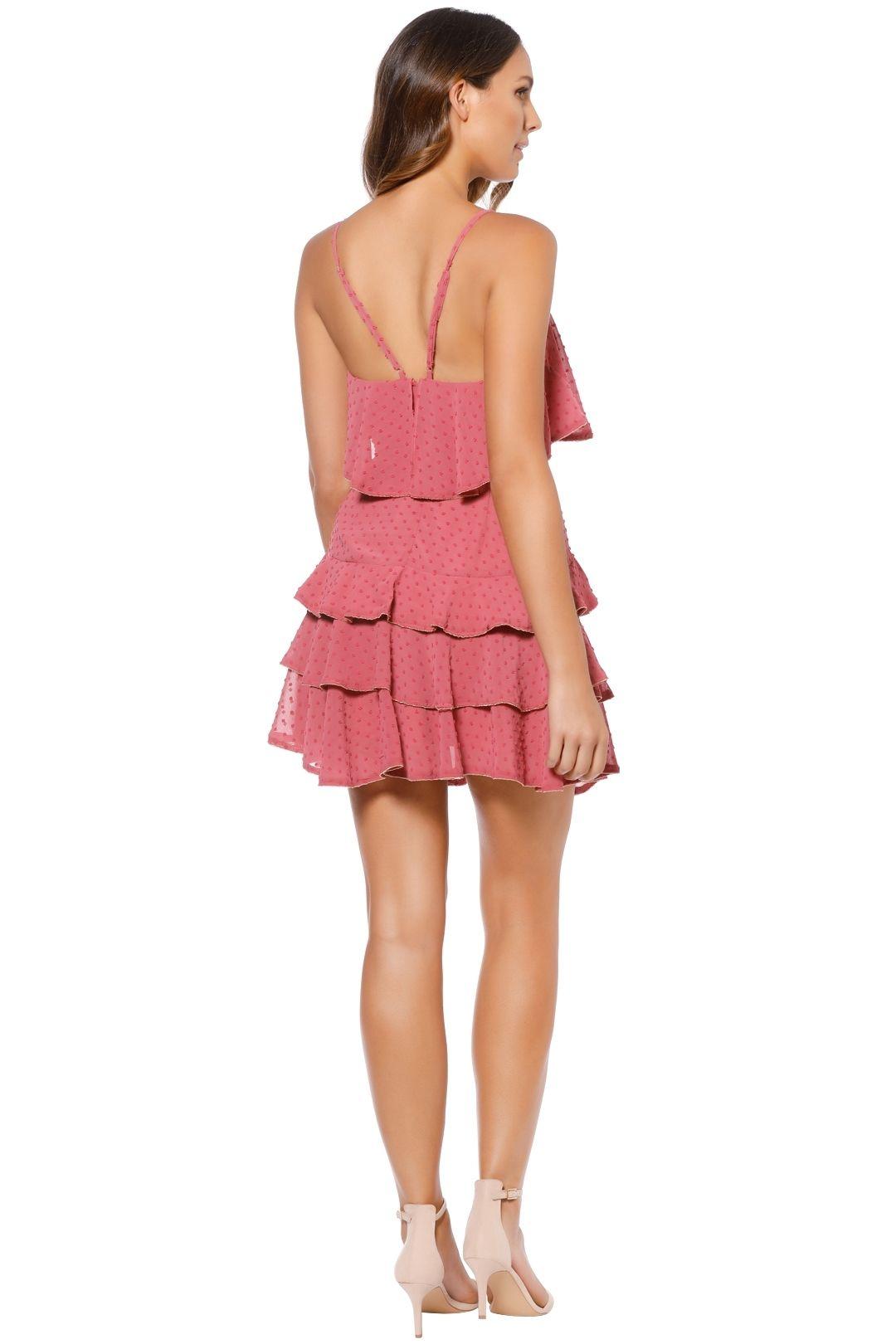 Talulah - Soft Posey Mini Dress - Pink - Back