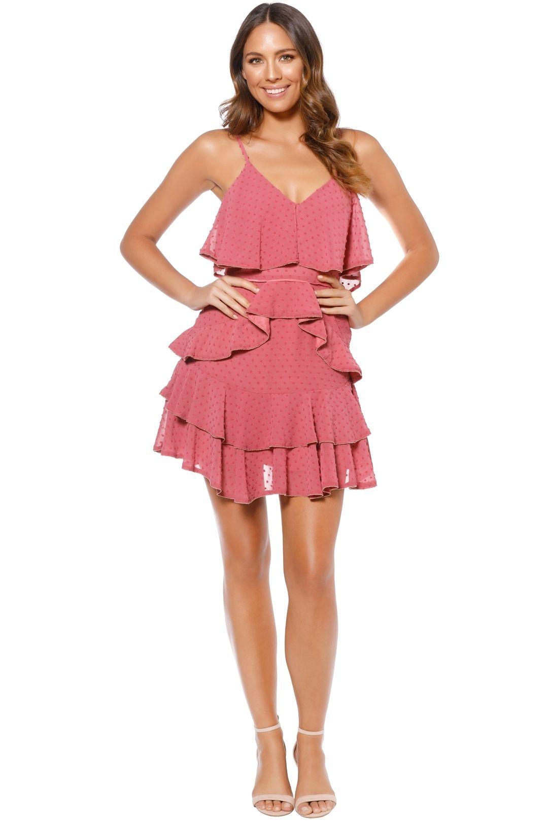 Talulah - Soft Posey Mini Dress - Pink - Front
