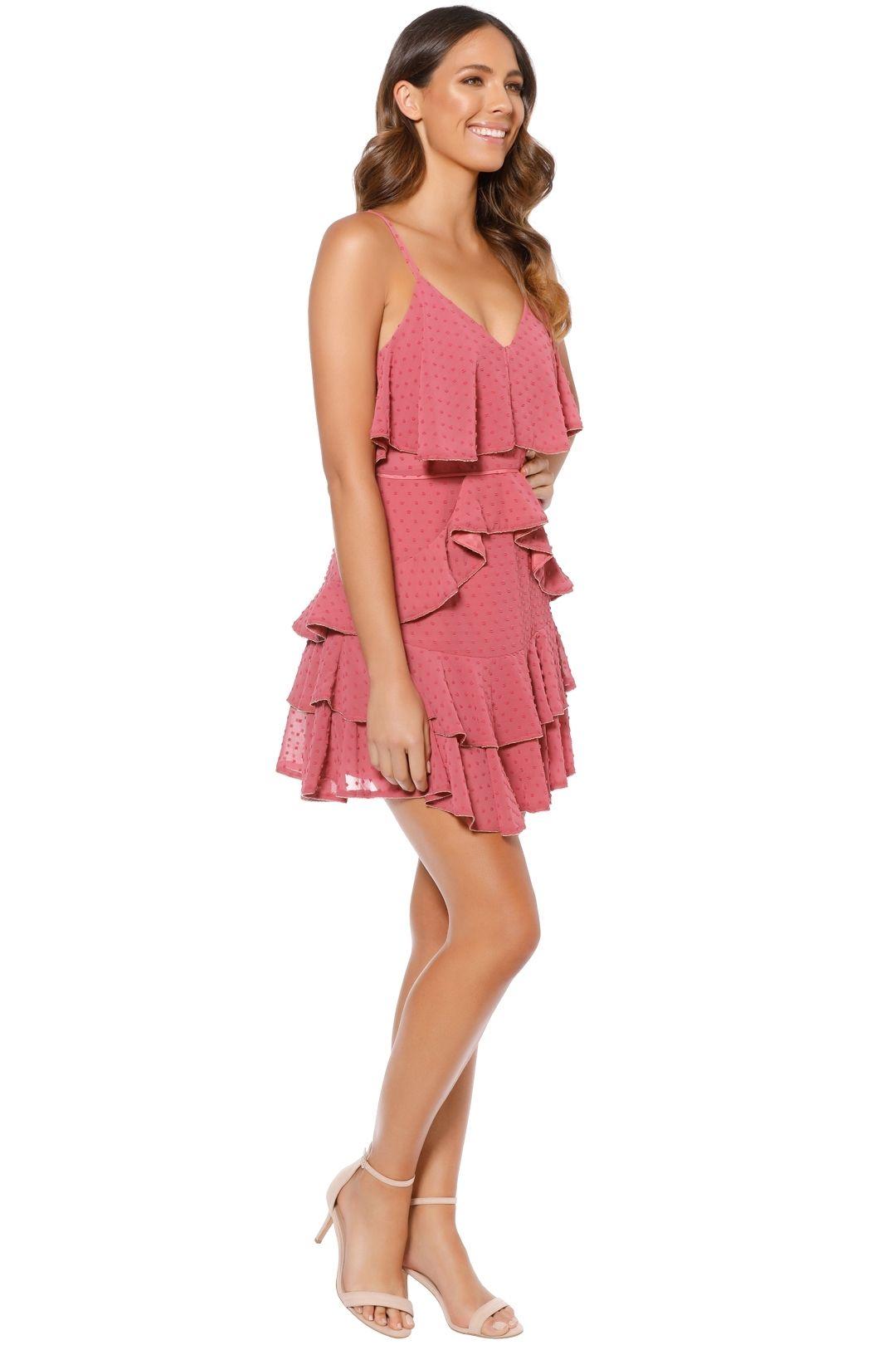 Talulah - Soft Posey Mini Dress - Pink - Side