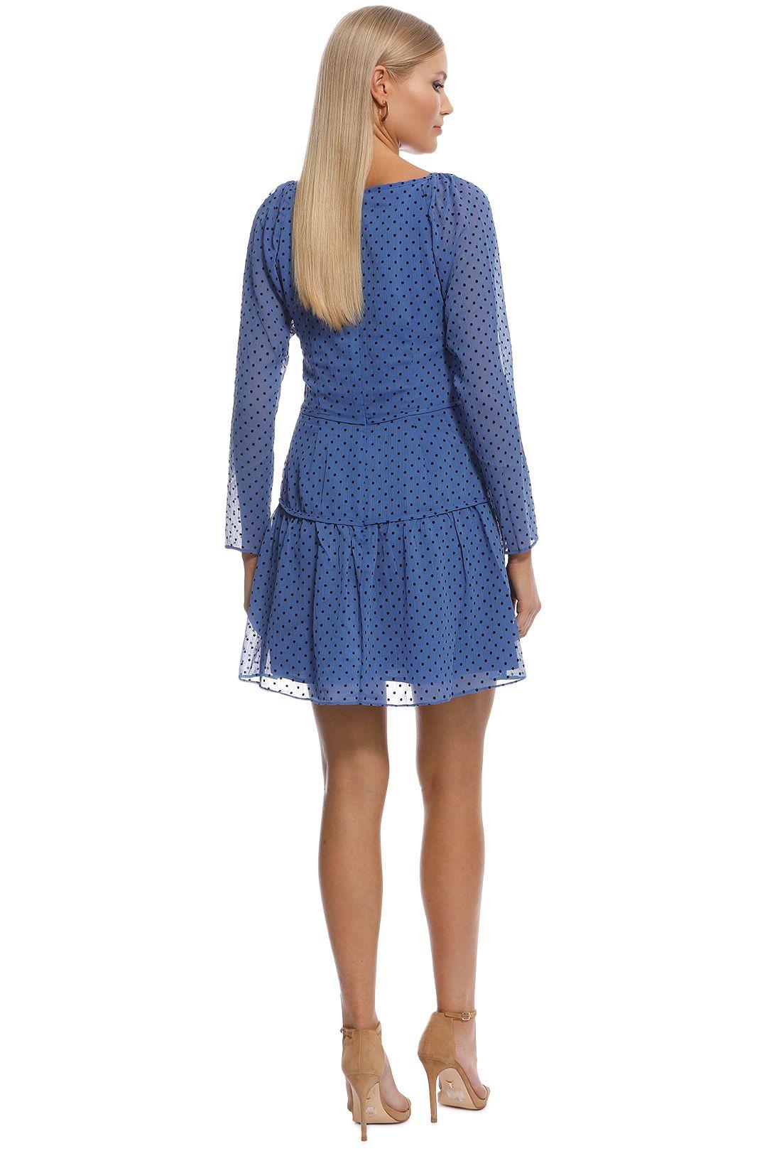Talulah - Sorrento Mini Dress - Blue - Back