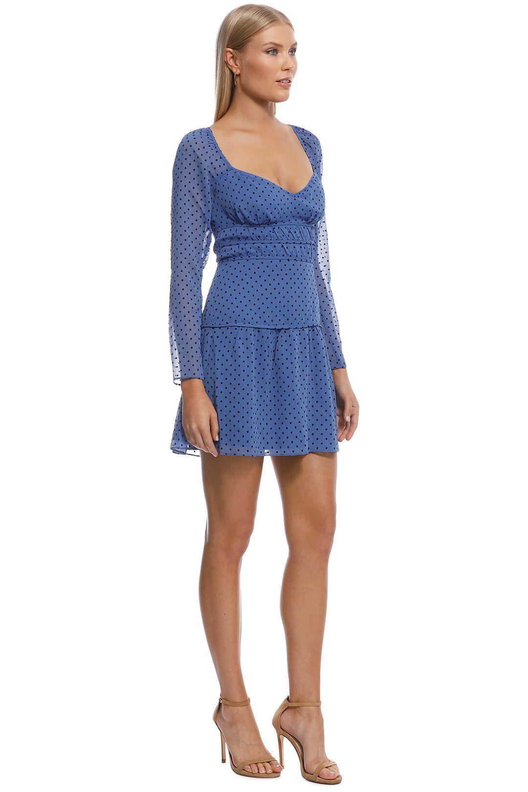 Talulah - Sorrento Mini Dress - Blue - Side