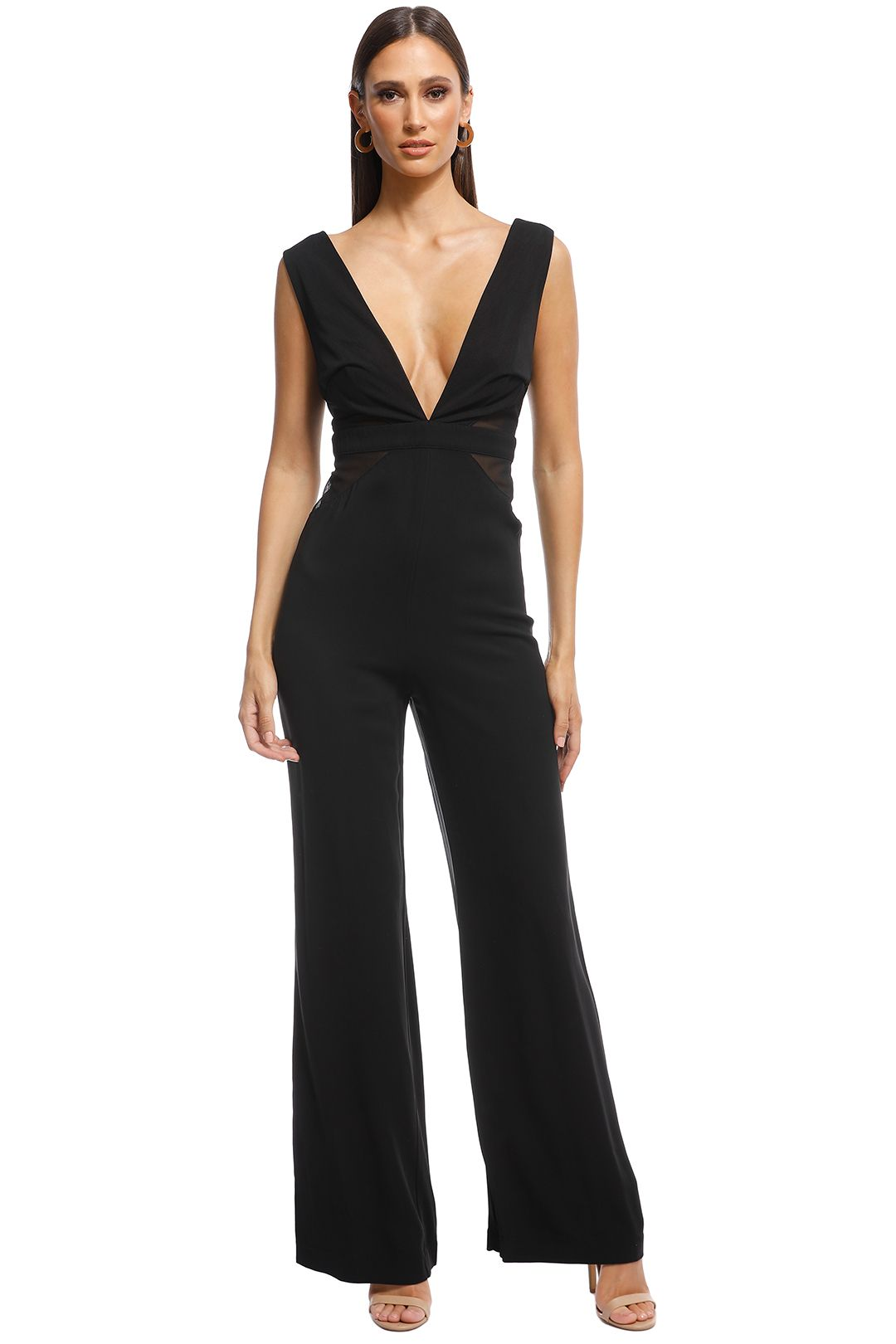 Talulah - Staccato Contrast Jumpsuit - Black - FRont
