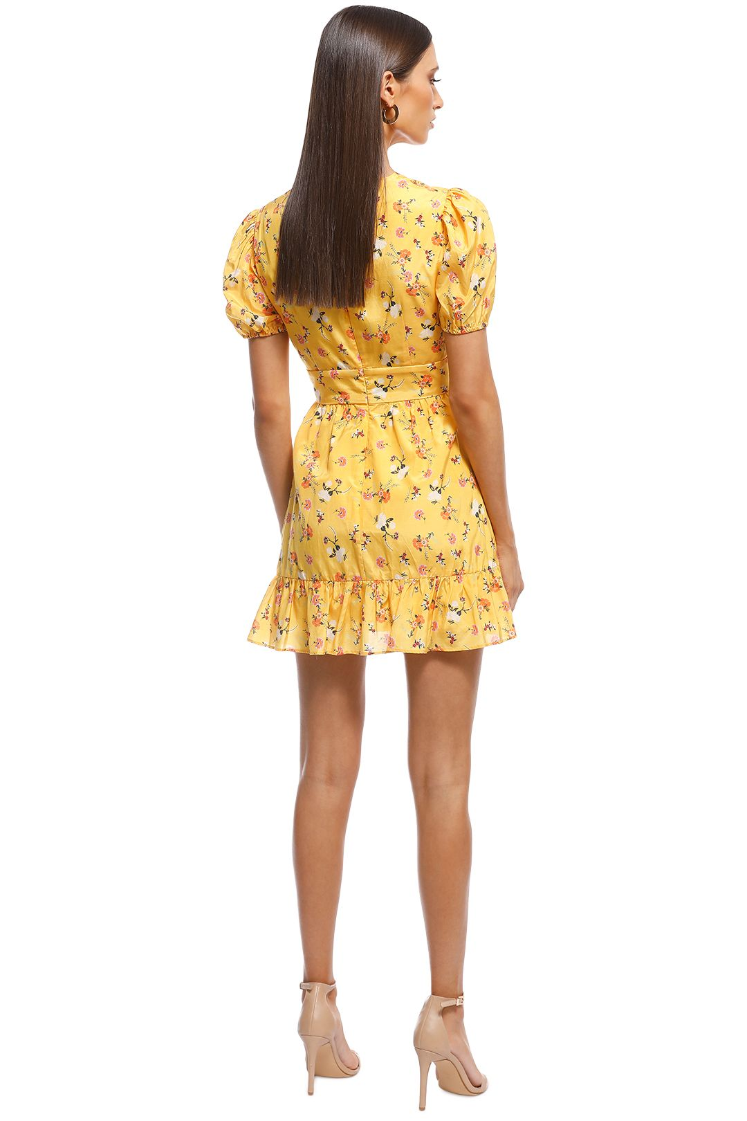 Talulah - Tansy Mini Dress - Yellow - Back