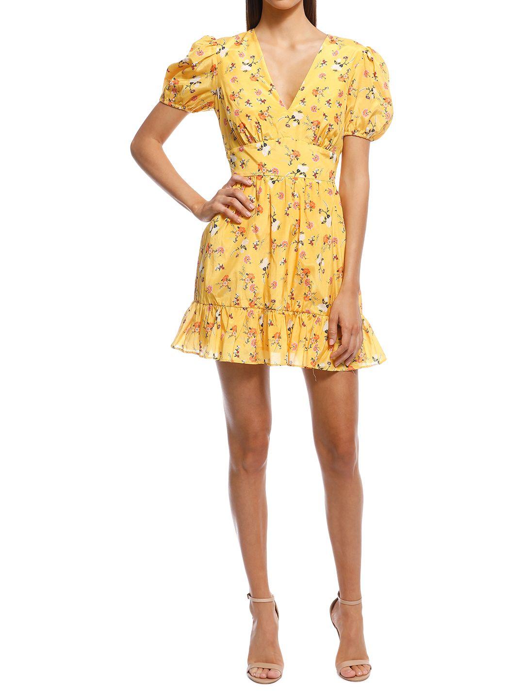 Talulah - Tansy Mini Dress - Yellow - Front