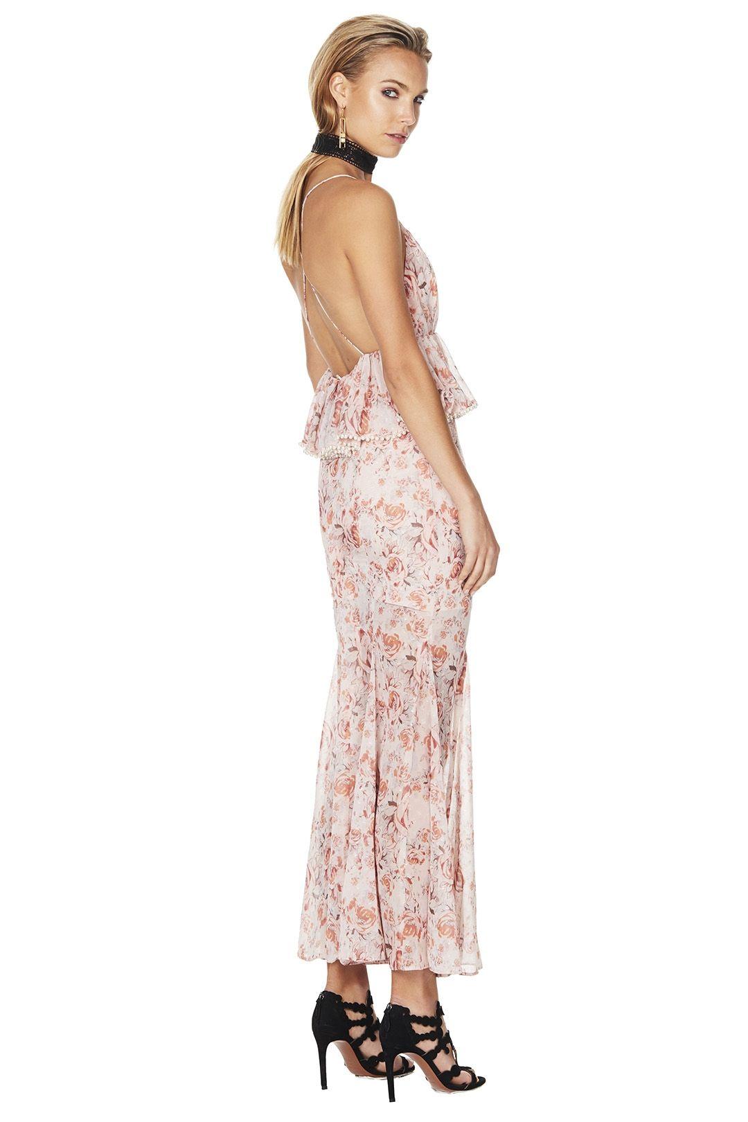 Talulah - The Faithful Maxi Dress - Pink Floral - Back