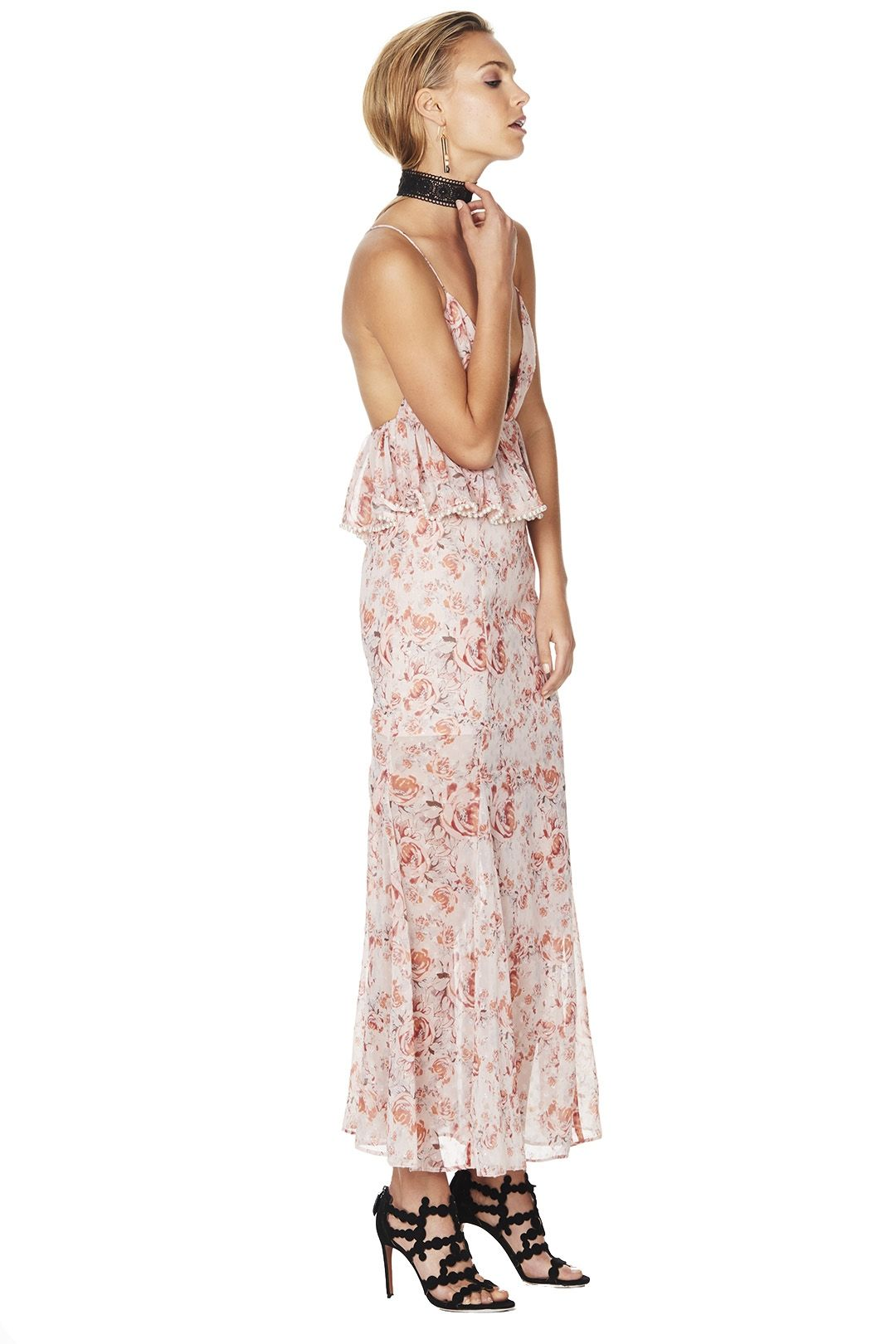 Talulah - The Faithful Maxi Dress - Pink Floral - Side