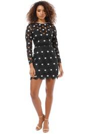 Talulah - The Icon LS Mini Dress - Black - Front