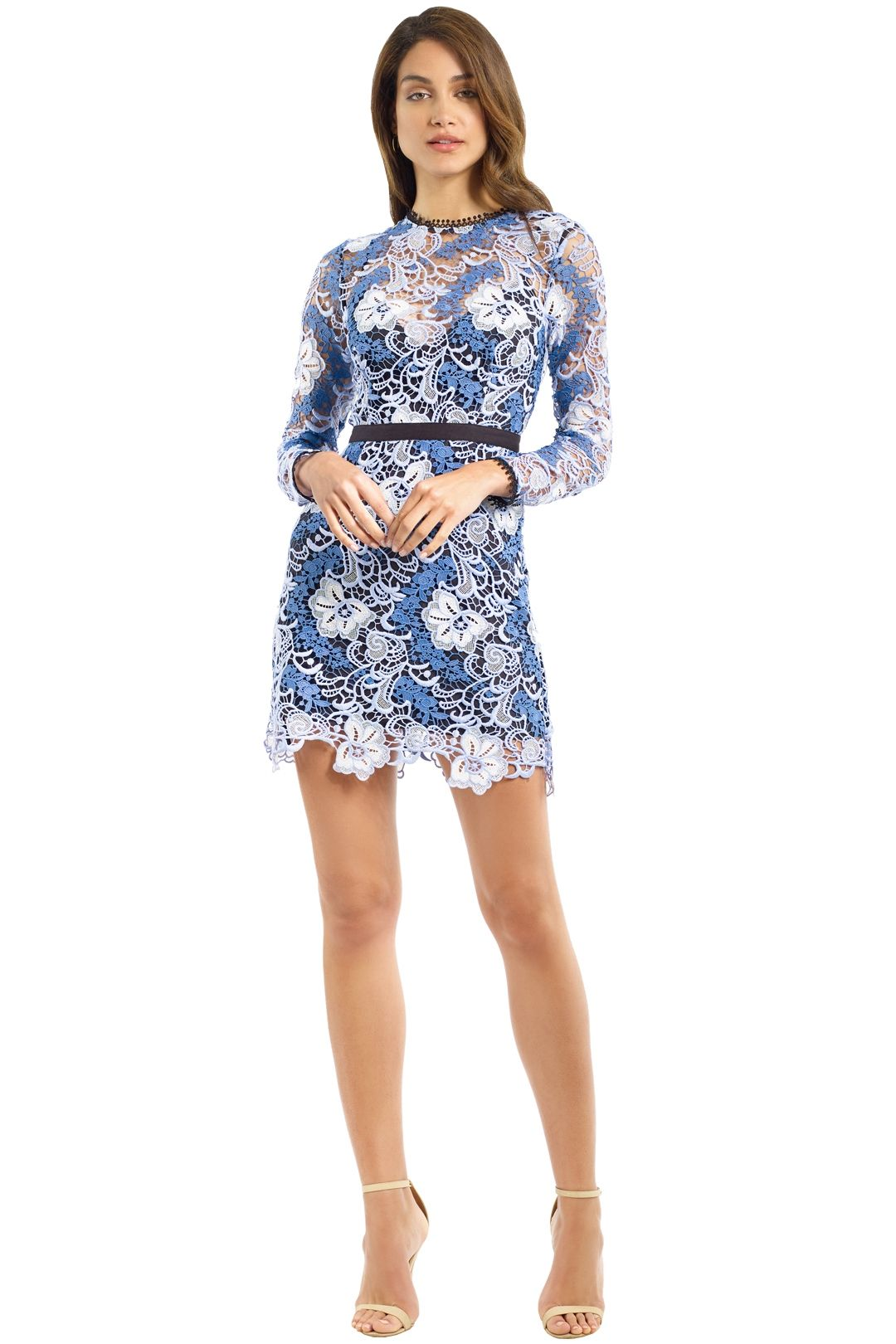 Talulah - The Passion LS Mini Dress - Blue - Front