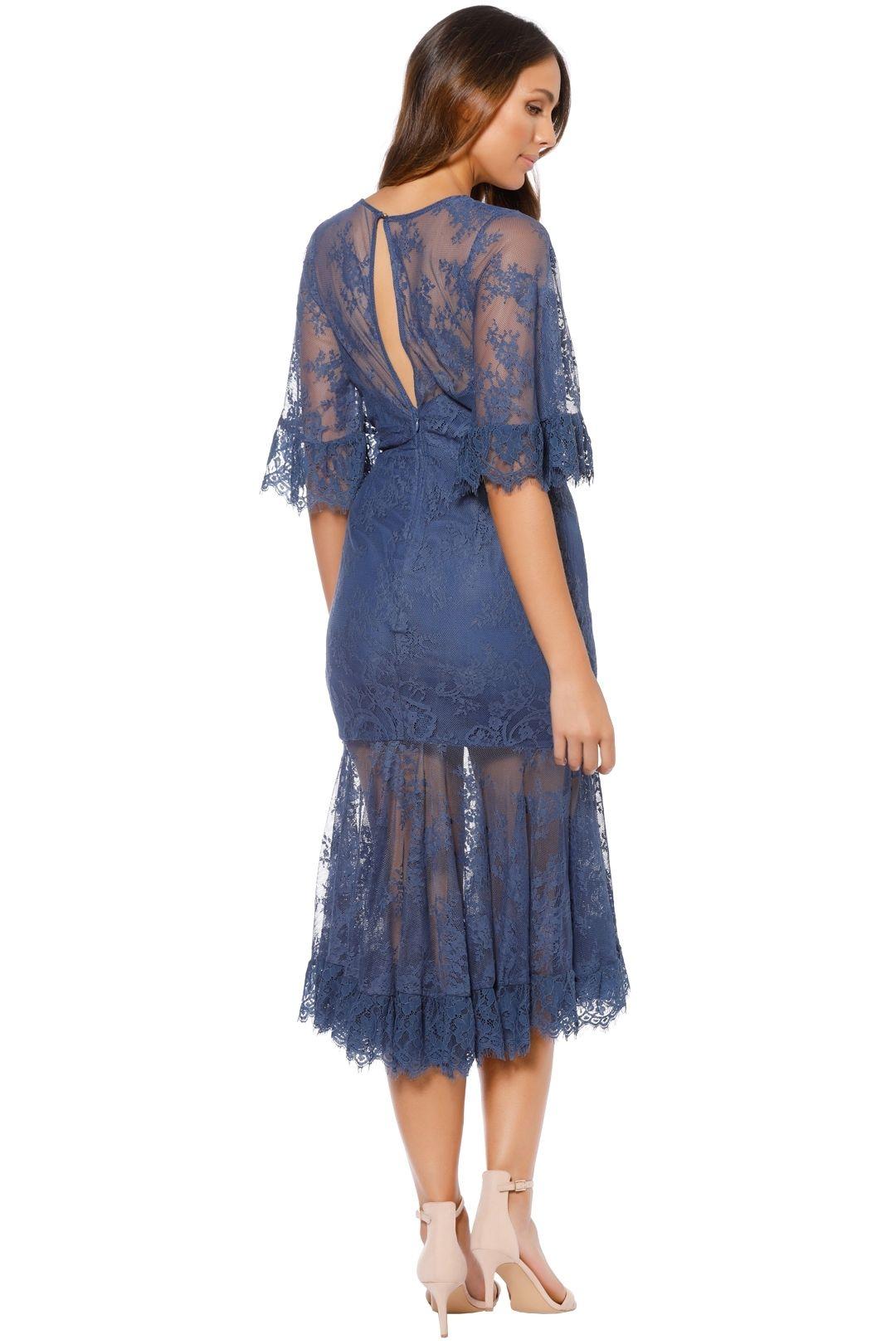 Talulah - Transpire Lace Maxi Dress - Blue - Back