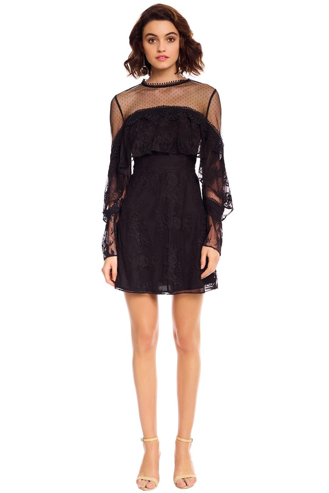 Talulah - True Chemistry Mini Dress - Black - Front