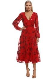 Talulah - Valiant Midi Dress - Red - Front