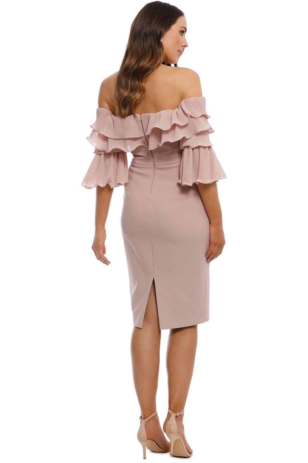 Talulah - Walk On By Off Shoulder Midi Dress - Blush - Back