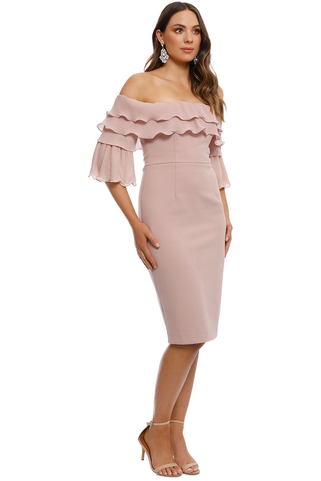 Talulah - Walk On By Off Shoulder Midi Dress - Blush - Side