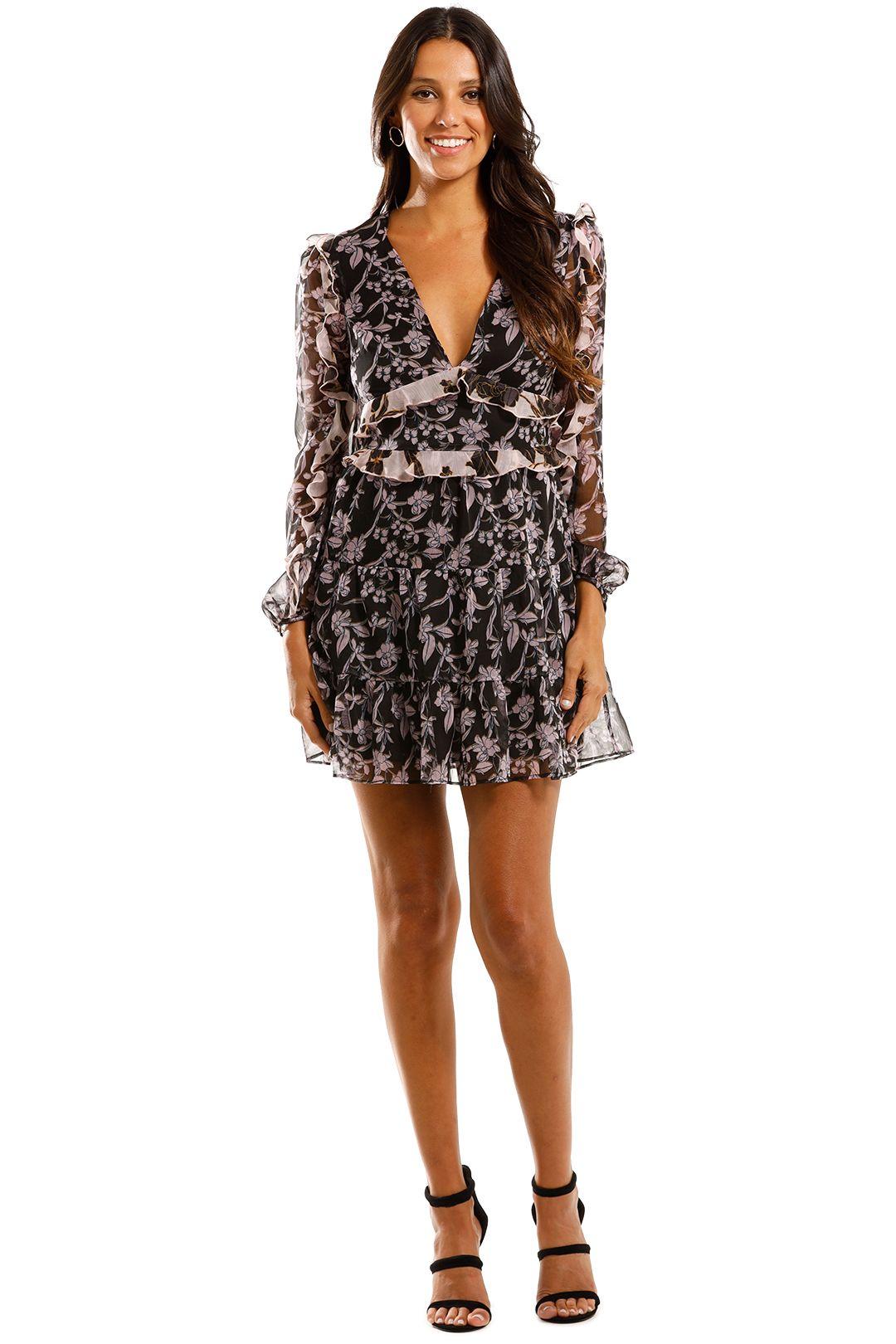 Talulah Blooming LS Mini Dress Patchwork