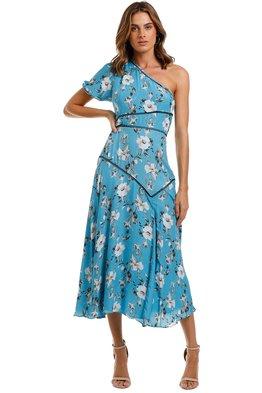 Talulah - Cannes Midi Dress - Blue Valentine Floral
