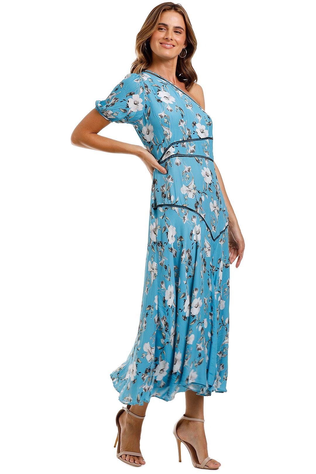 Talulah Cannes Midi Dress Blue Valentine Floral