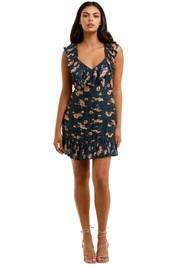 Talulah Chain of Fire Mini Dress Henri Floral V neck