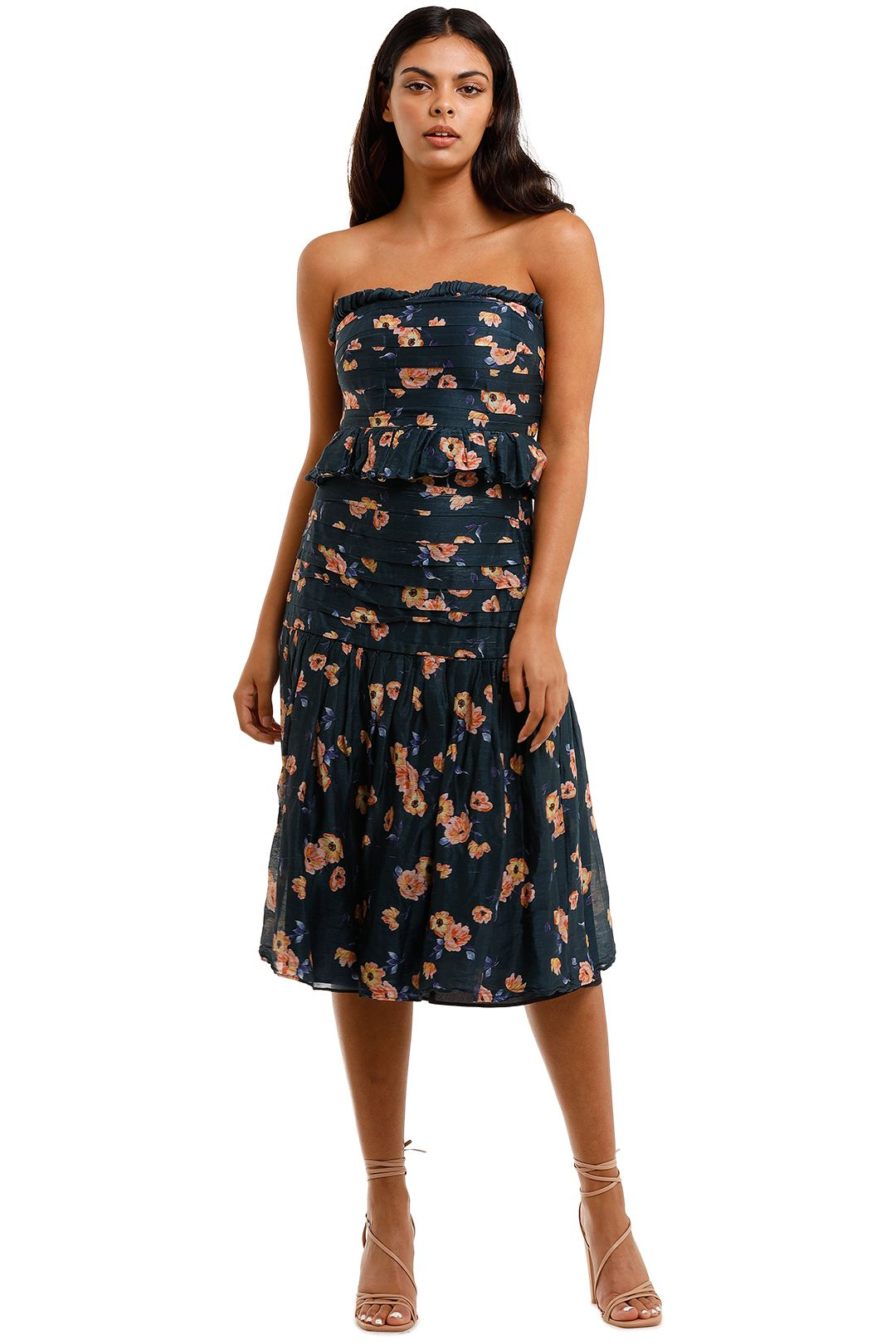 Talulah Chain of Fire Top and Skirt Set Henri Floral Strapless