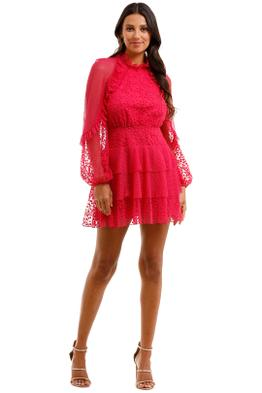 Talulah Fuschia Delight Mini Dress Fuschia Embroidery Floral Pink