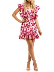 Talulah Les Saison Mini Dress Pink Floral
