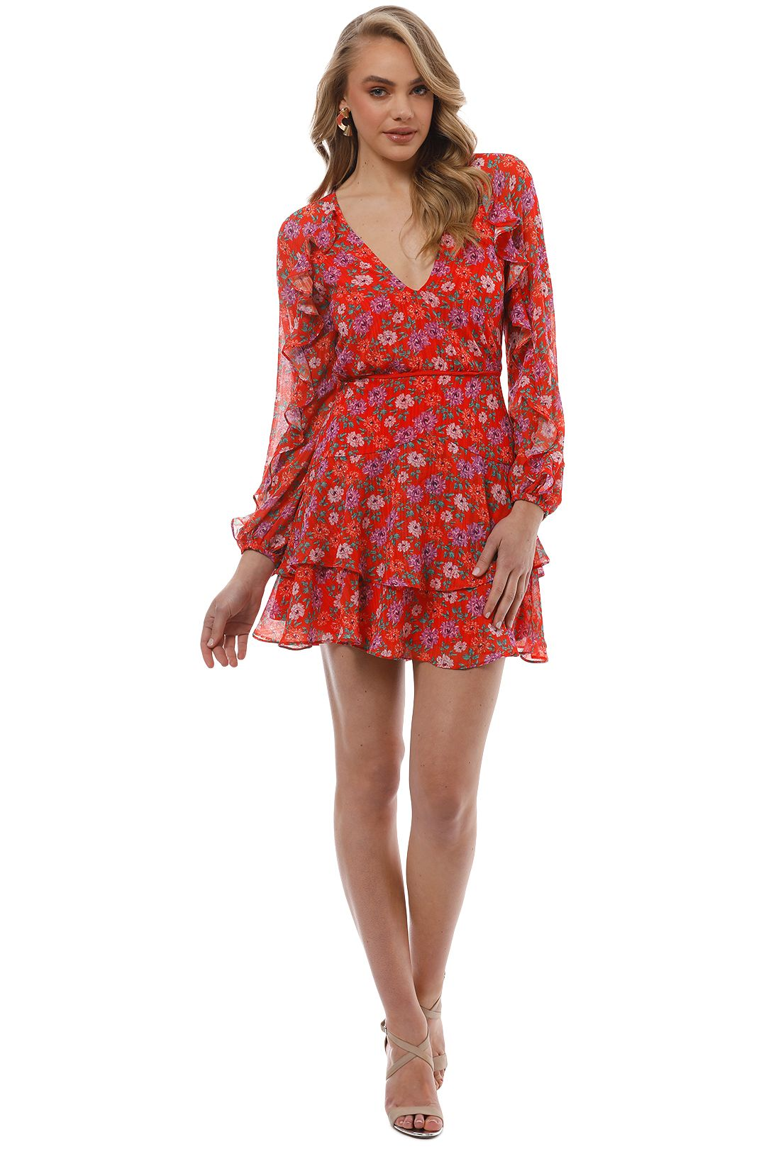 Talulah - Love Token Mini Dress - Token Print - Front