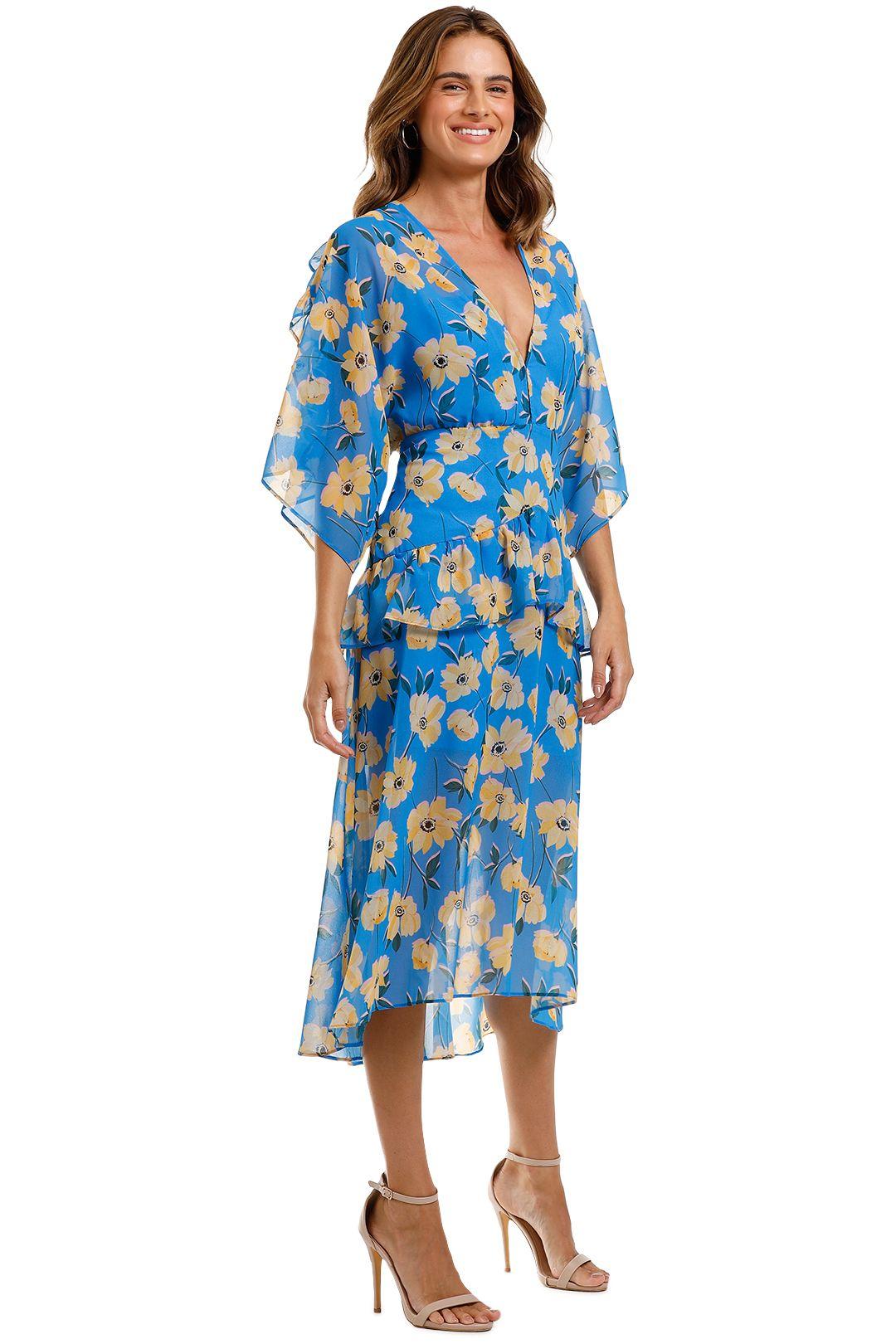Talulah Sicily Sway Midi Dress v neckline
