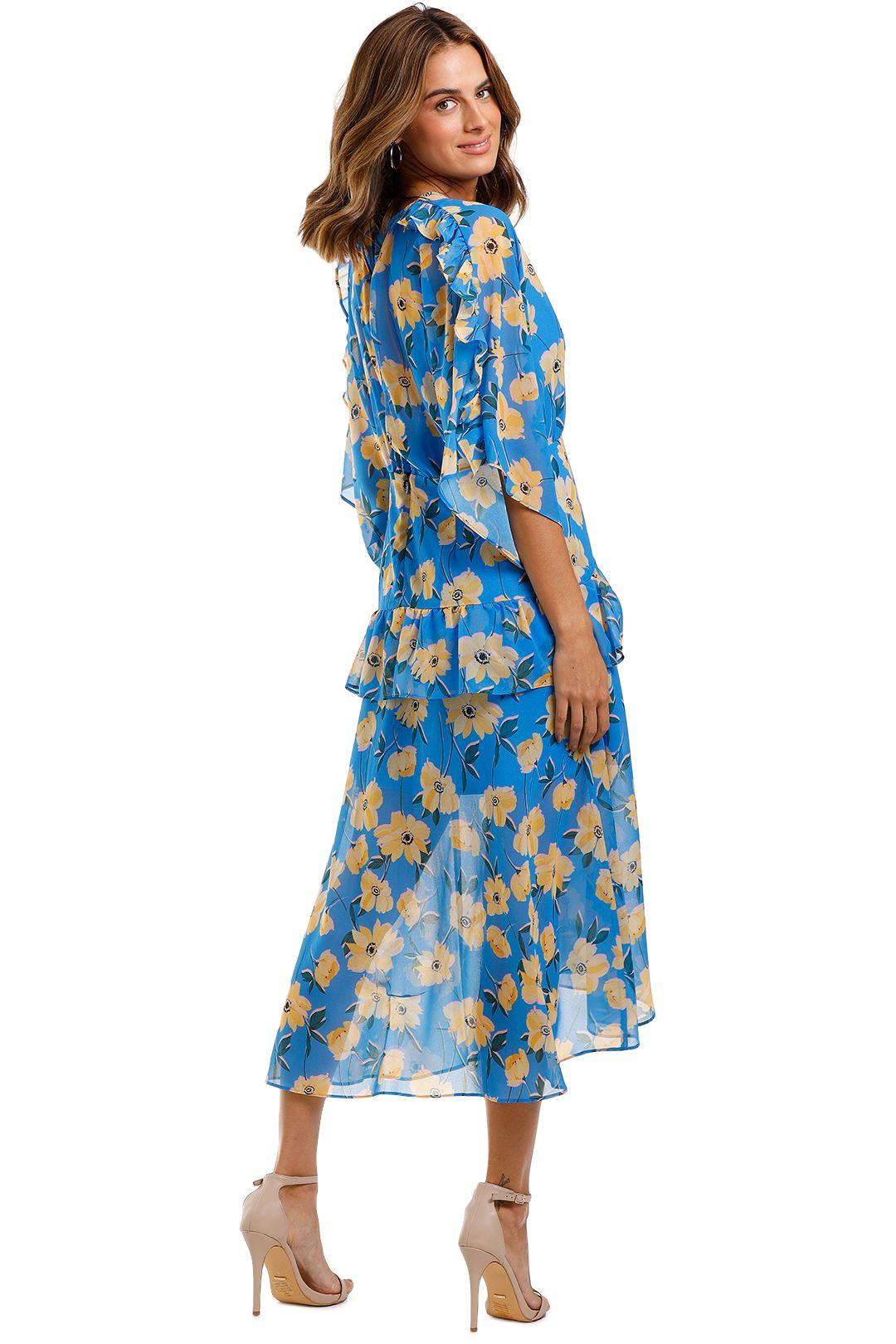 Talulah Sicily Sway Midi Dress blue multi