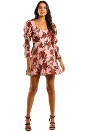 Talulah Take A Chance LS Mini Dress Scoop Neckline
