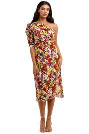 Talulah The Blossom Midi Dress one shoulder
