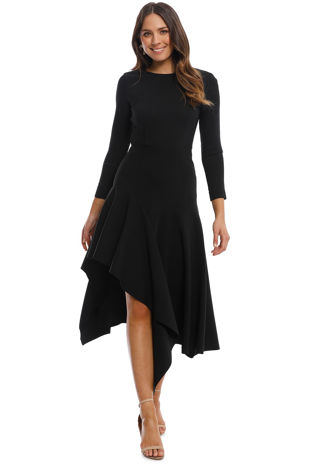 Talulah - Wonder LS Midi Dress - Black - Front