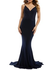 Tania Olsen - Liana Gown - Navy - Front