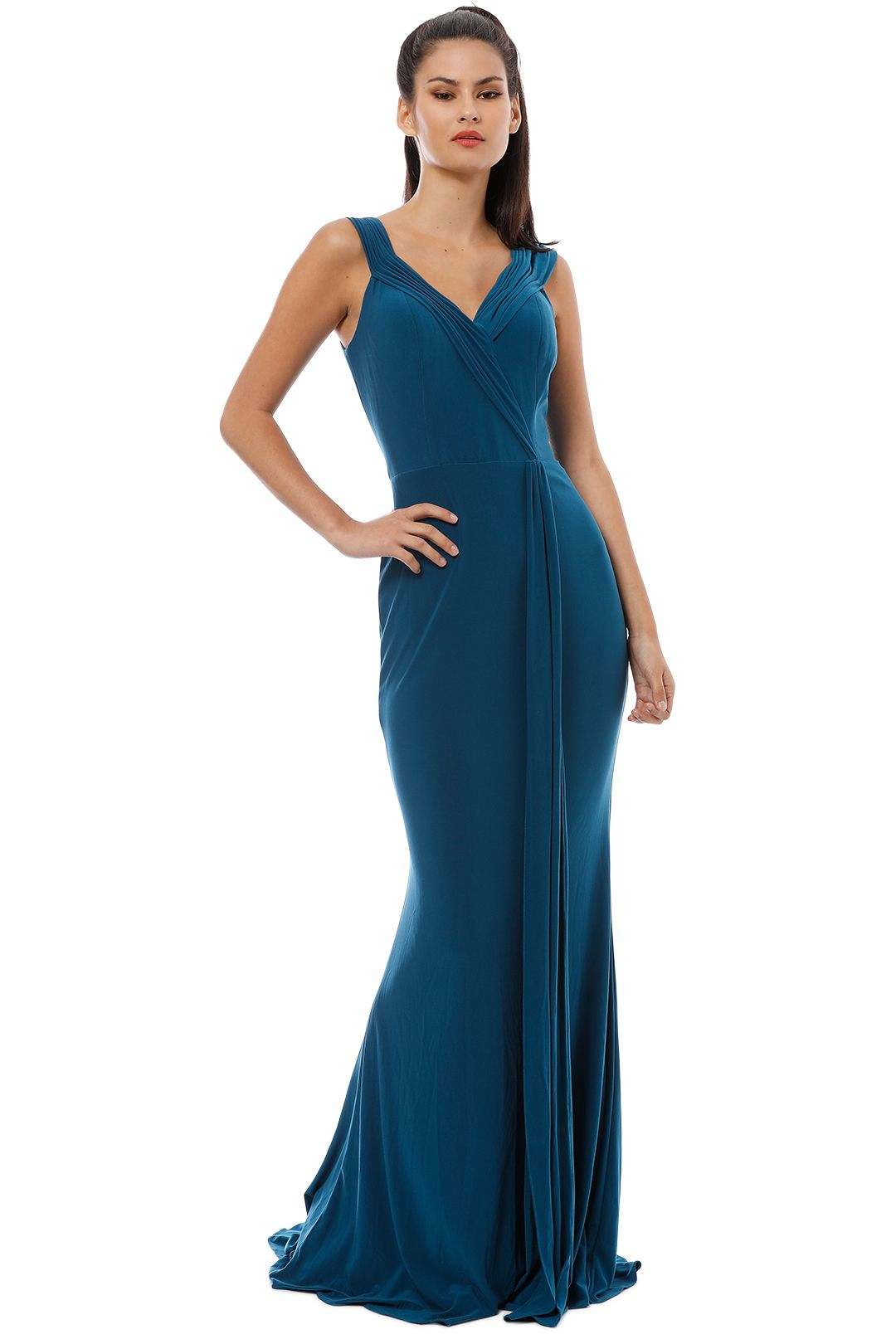Tania Olsen - Malissa Gown - Teal - Front