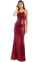 Tania Olsen - Sadie Sequin Gown - Vintage Cherry - Front