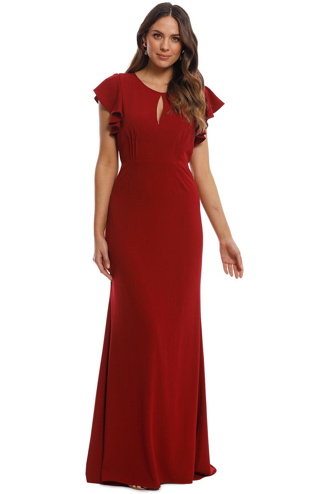 Tania Olsen - Stella Gown - Merlot - Front