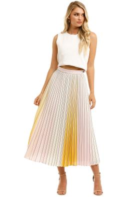 Ted-Baker-Noviia-Pleated-Ombre-Skirt-Yellow-Front