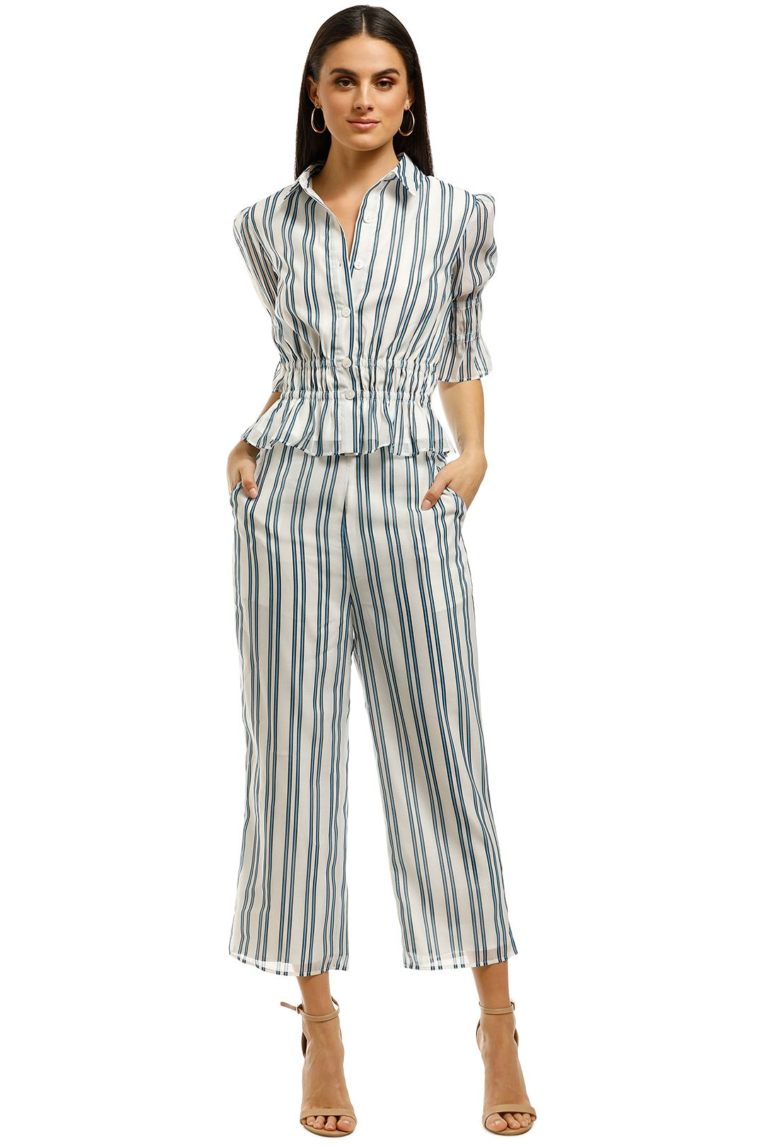 The-East-Order-Brielle-Pants-Blue-Stripes-Front