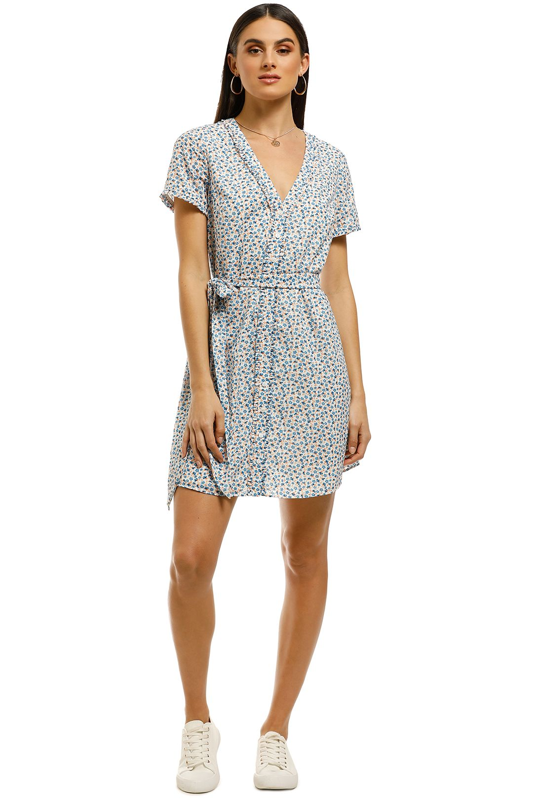 The-East-Order-Charlotte-Mini-Dress-Blue-Floral-Print-Front