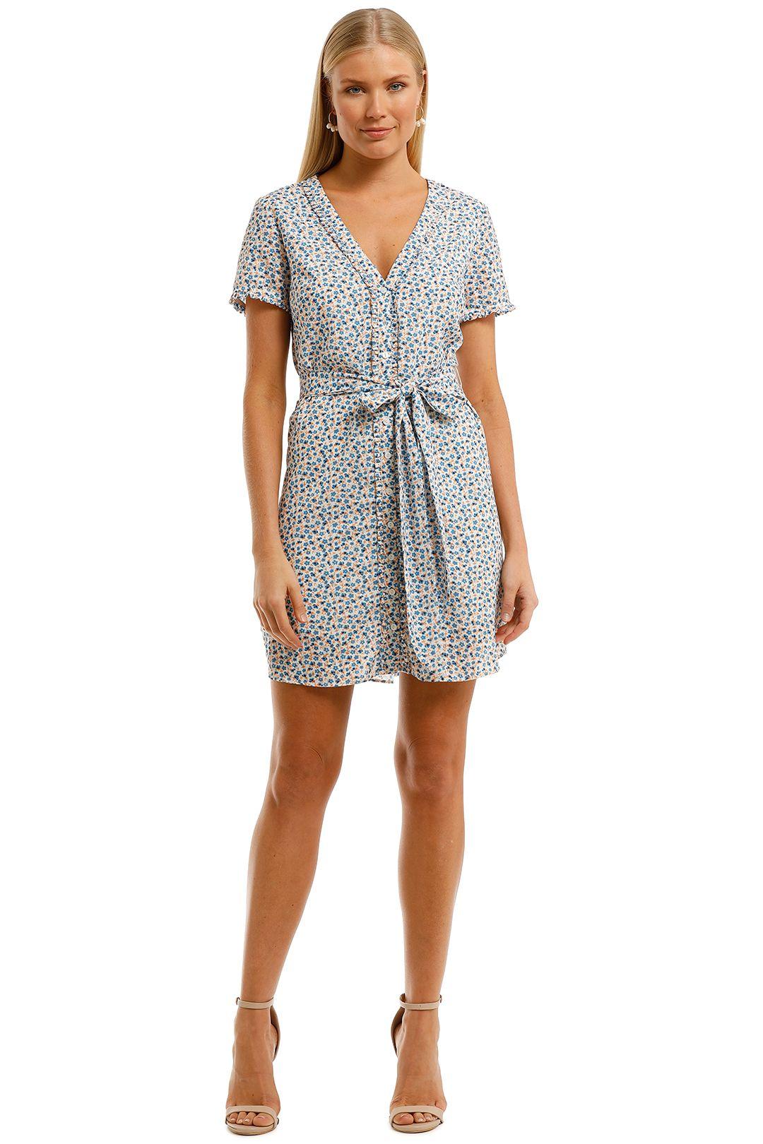 The-East-Order-Charlotte-Mini-Dress-Blue-Floral-Print-Front