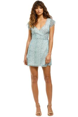 The-East-Order-Dixie-Mini-Dress-Happy-Greens-Front
