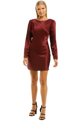 The-East-Order-Katia-Mini-Dress-Wine-Front