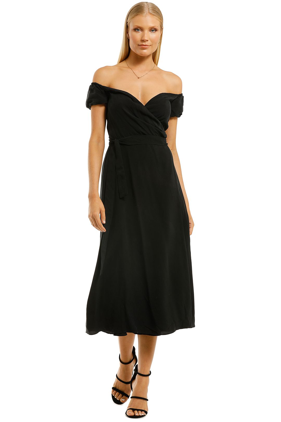 The-East-Order-Monte-Midi-Dress-Black-Front