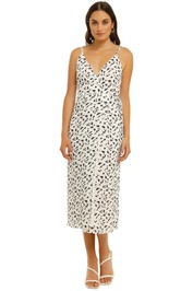 The-East-Order-Sukii-Midi-Dress-Wilderness-White-Front
