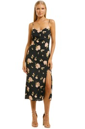 The-East-Order-Veronica-Midi-Dress-Midnight-Rose-Front