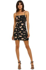 The-East-Order-Veronica-Mini-Dress-Midnight-Rose-Front