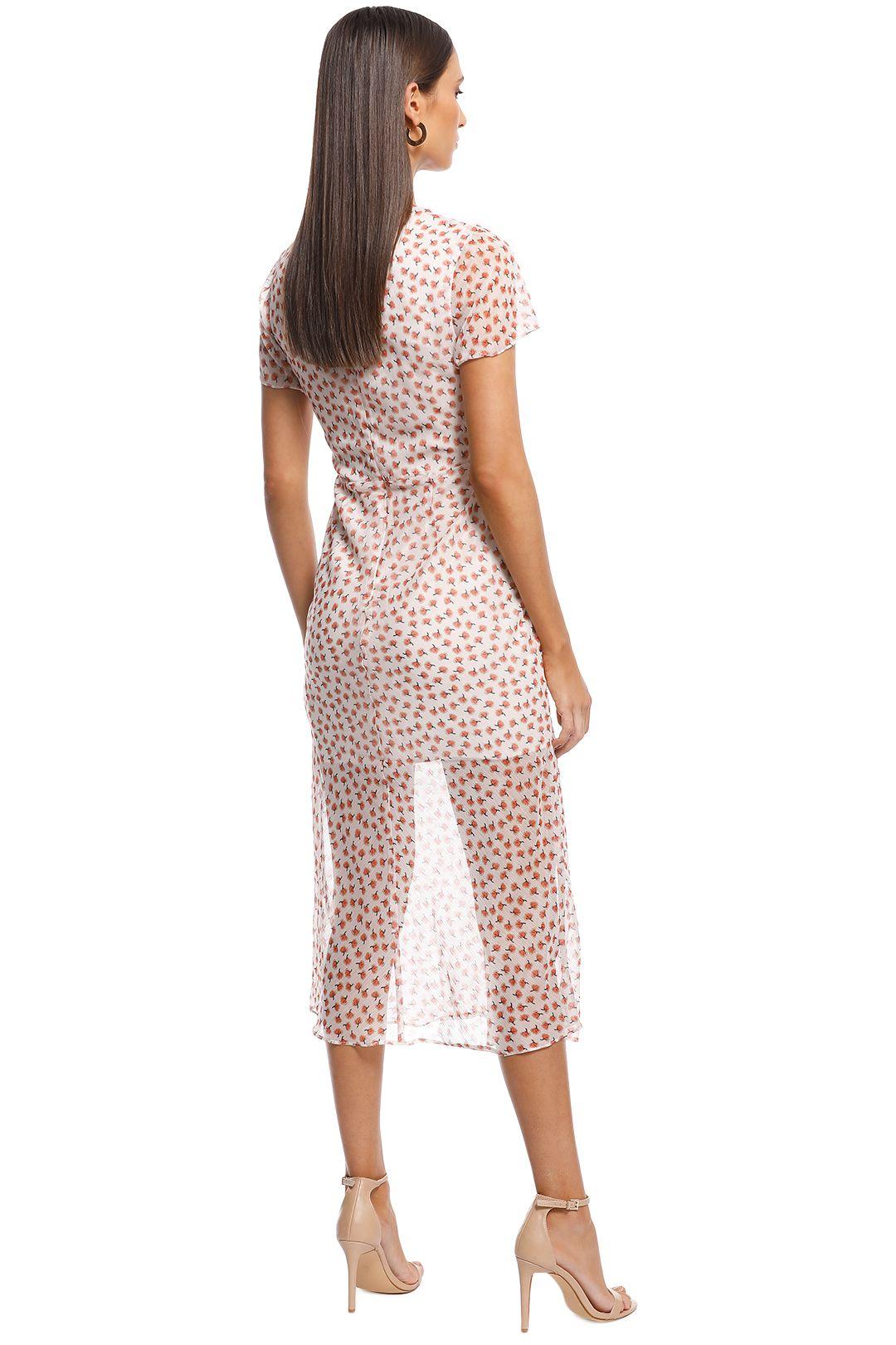 The East Order - Fin Midi Dress - Print - Back